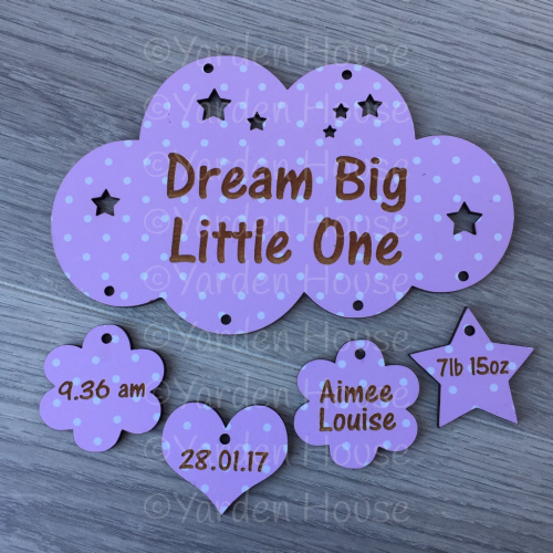 Dream Big Little One, hanging cloud